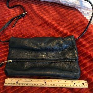 Authentic Calvin Klein leather crossbody/clutch